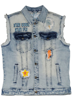Born Fly Ice Cream Truck Denim Vest
