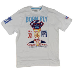 Born Fly Mr. Softie Graphic Tee (white)