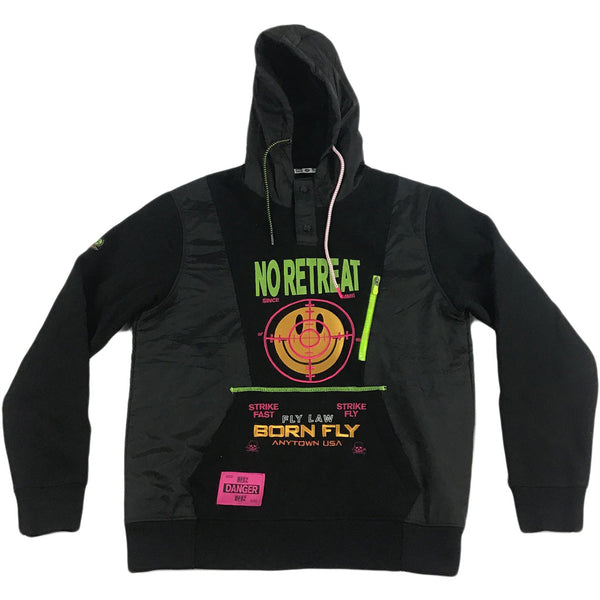 Born Fly No Retreat Hoodie (black)
