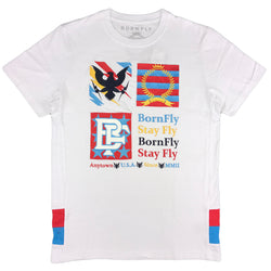 Born Fly Taper Tee (white)