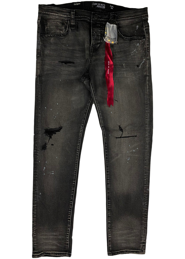 Cote de Nuits - Black Grey Wash Denim (cdn-wb-201)