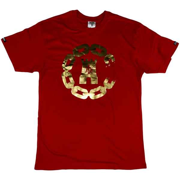 Crooks & Castles - Chain C 10yr SS Tee (red)