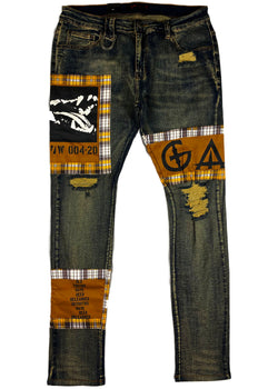 "Gala - ""AWOL"" Patchwork Denim"