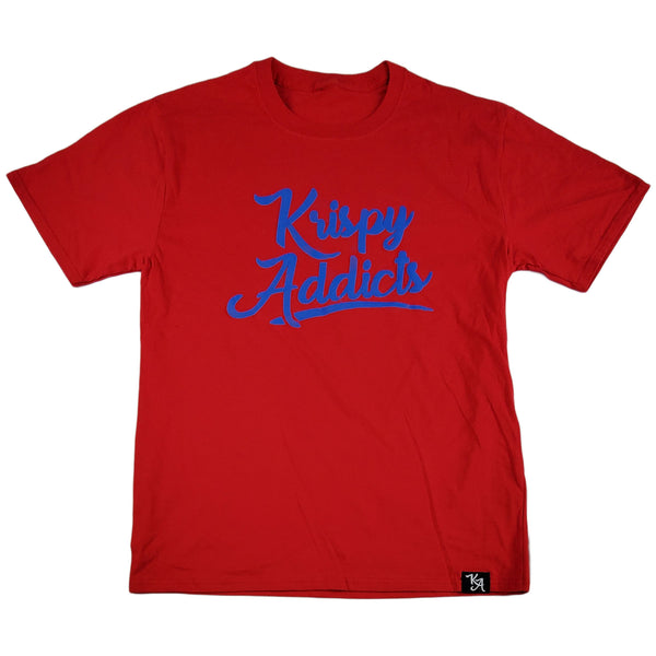Krispy Addics - Krispy Logo Raised Tee Red (royal blue)