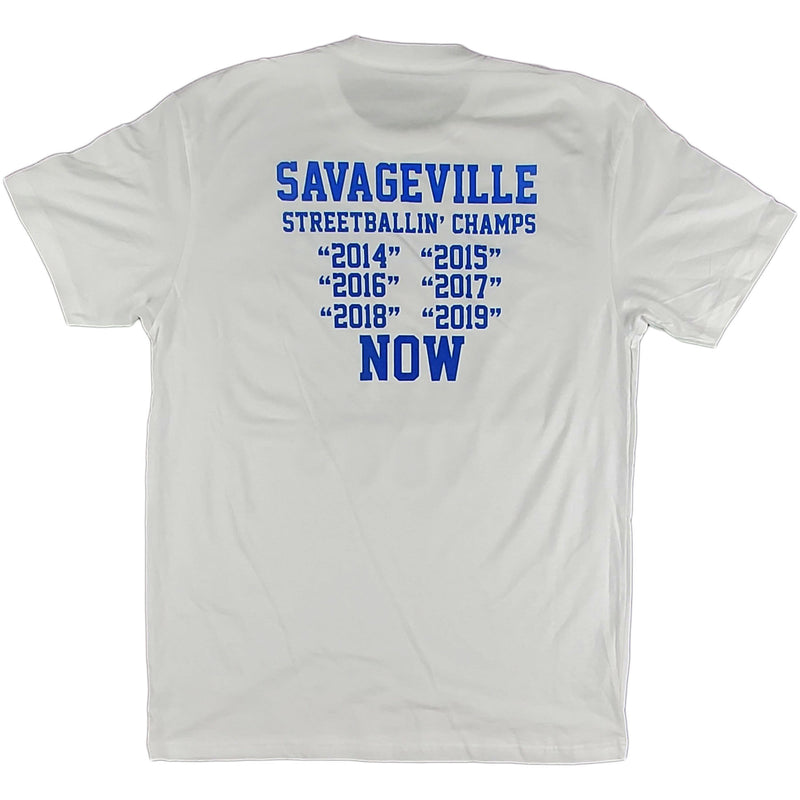 Krispy Addicts - Savageville HOGS White (royal blue)