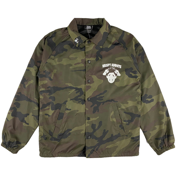 Krispy Addicts - Coach Jacket (camo)