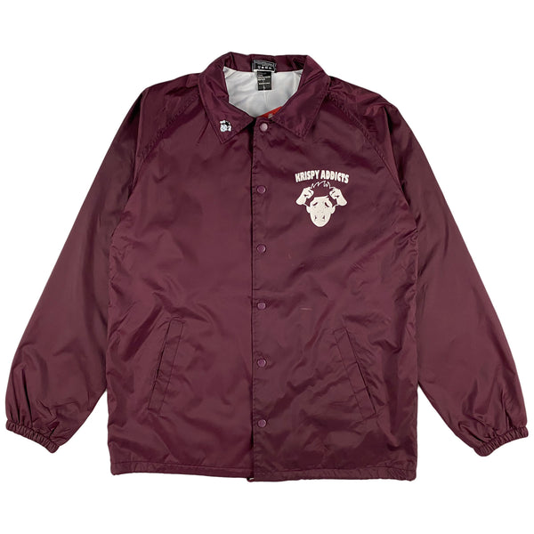 Krispy Addicts - Coach Jacket (maroon)