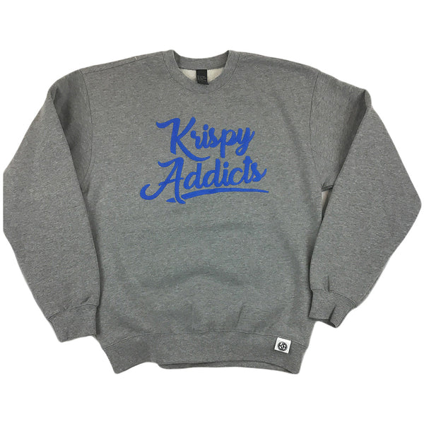 Krispy Addicts - Crew (heather grey/royal blue)