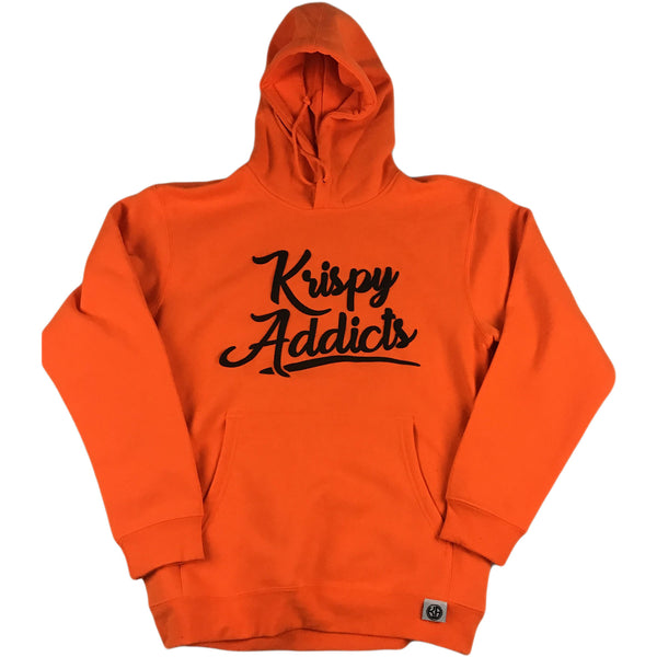 Krispy Addicts - Hoodie (safety orange/black)