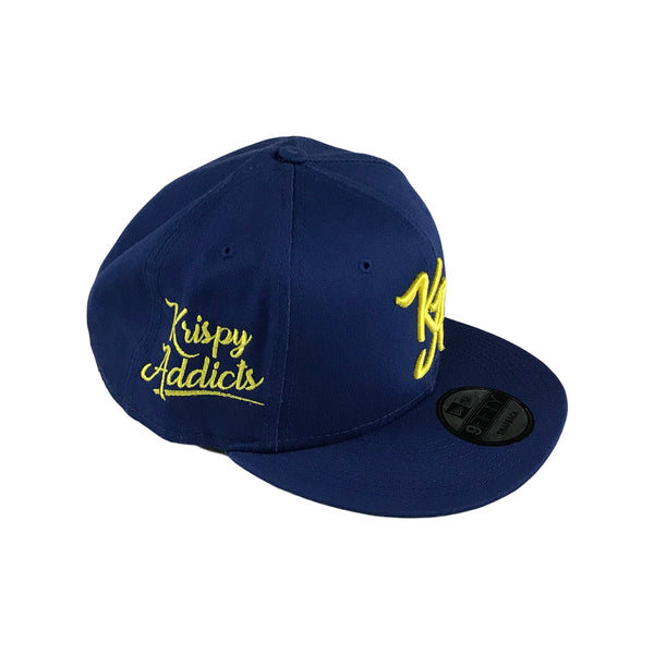 Krispy Addicts - KA Logo x New Era Snapback Royal Blue (yellow)