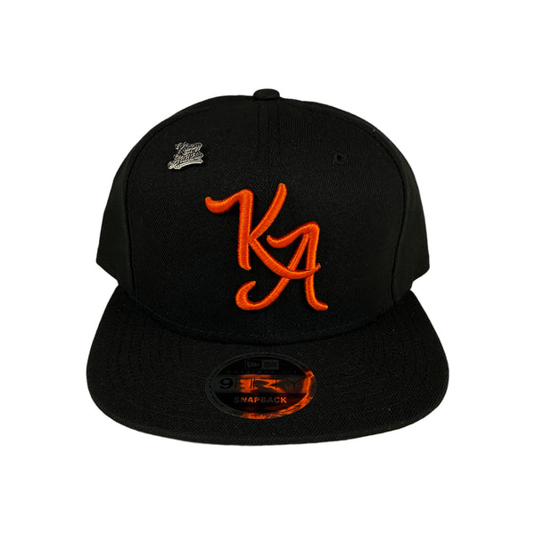 Krispy Addicts - KA Logo X New Era Snapback Black (orange)