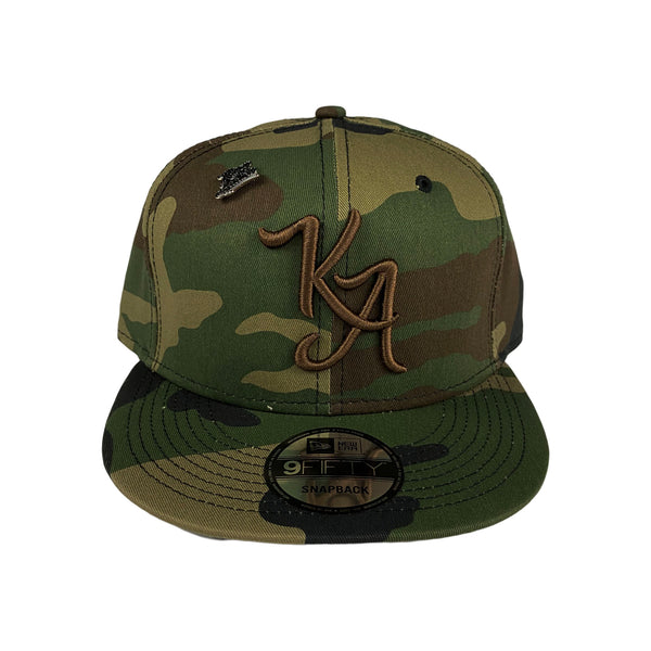 Krispy Addicts - KA Logo X New Era Snapback Camo (brown)