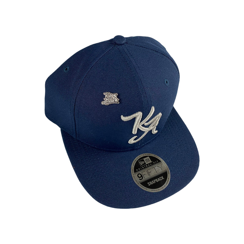 Krispy Addicts - KA Logo X New Era Snapback Navy (grey)