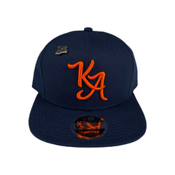 Krispy Addicts - KA Logo x New Era Snapback Navy (orange)