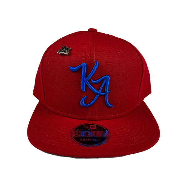 Krispy Addicts - KA Logo x New Era Snapback Red (royal blue)