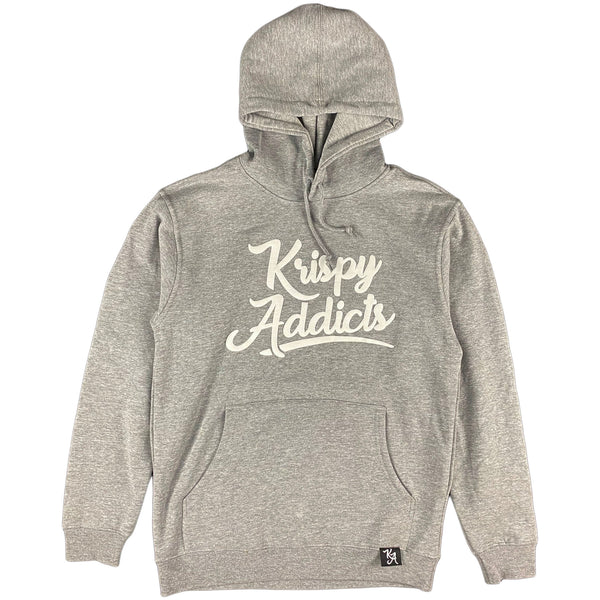 Krispy Addicts - Krispy Logo Raised Hoodie Heather Grey (white)