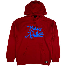 Krispy Addicts - Krispy Logo Raised Hoodie Red (royal)