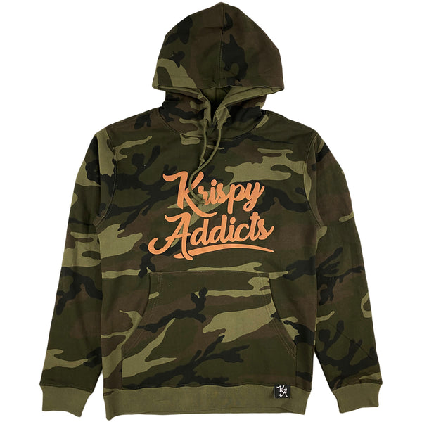 Krispy Addicts - Krispy Logo Raised Hoodie (camo)