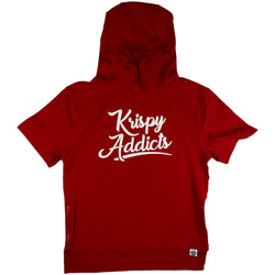 Krispy Addicts - Krispy Logo Raised SS Hoodie (red)