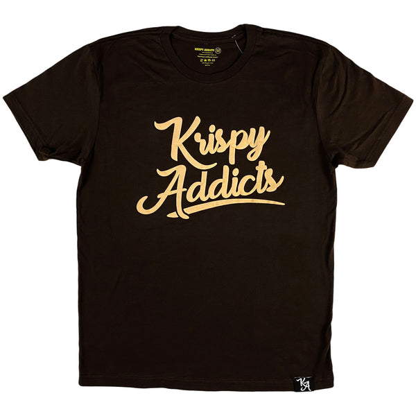 Krispy Addicts - Krispy Logo Raised Tee Brown (beige)