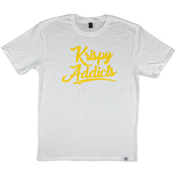 Krispy Addicts - Krispy Logo Raised Tee White (yellow)