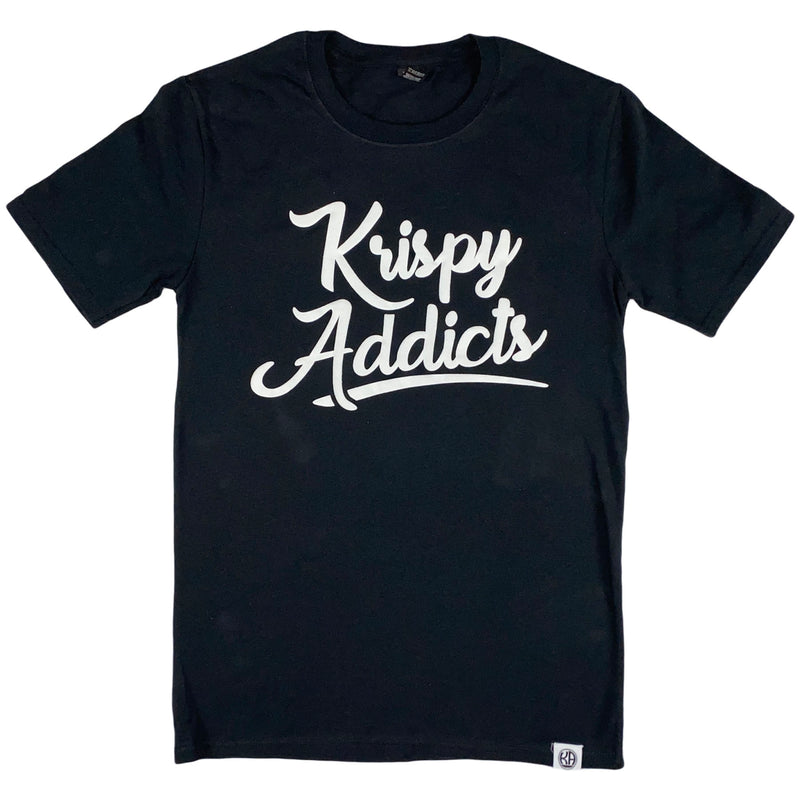 Krispy Addicts - Krispy Logo Raised Tee Black (white)