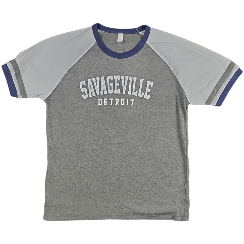 Krispy Addicts - Savageville Detroit SS Raglan Tee (grey_white)