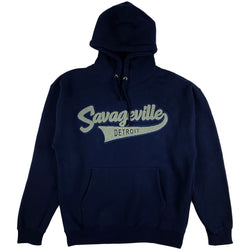 Krispy Addicts - Savageville Tails Chenille Hoodie (navy/blue/grey)