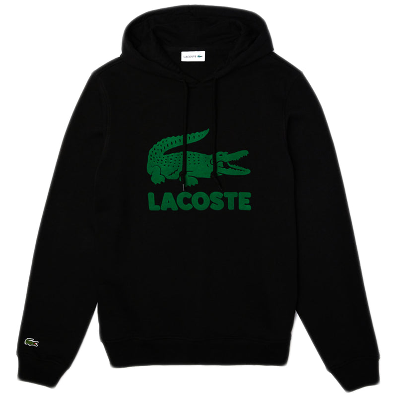 LACOSTE - Hooded Fleece Sweatshirt With Printed Logo [SH2169] (black)