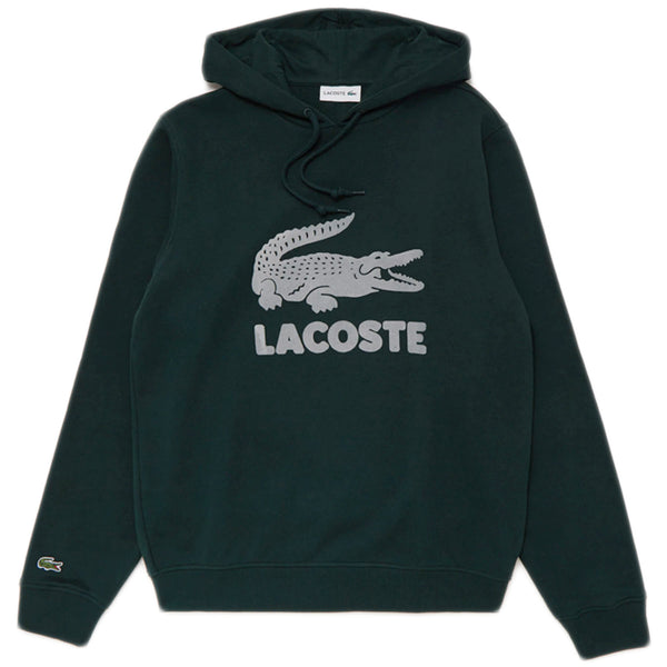 LACOSTE - Hooded Fleece Sweatshirt With Printed Logo [SH2169] (green)