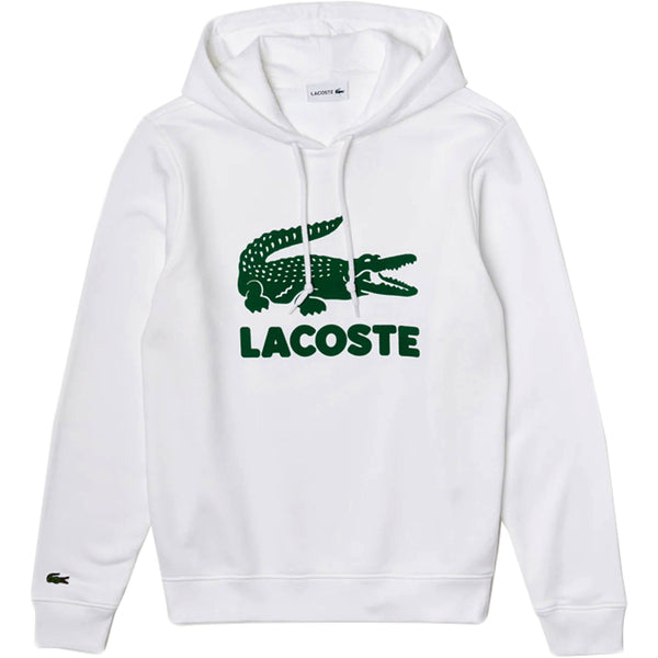 LACOSTE - Hooded Fleece Sweatshirt With Printed Logo [SH2169] (white)