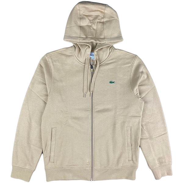 Lacoste - Full Zip Hooded Sweatshirt (beige)