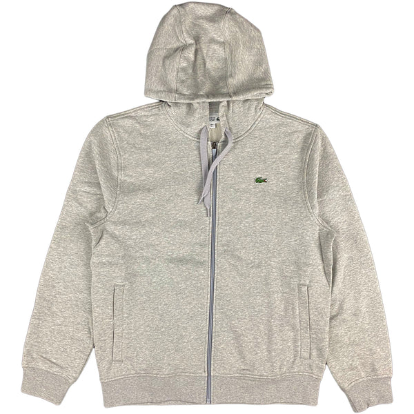 Lacoste - Full Zip Hooded Sweatshirt (heather grey)