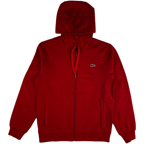 Lacoste - Full Zip Hooded Sweatshirt (red)