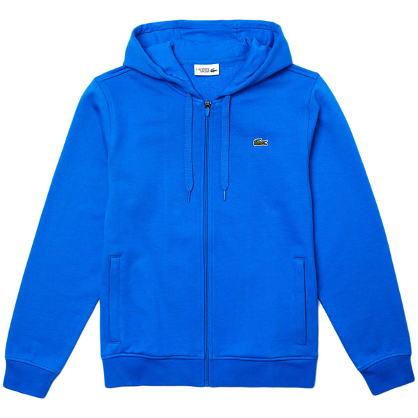 Lacoste - Full Zip Hooded Sweatshirt (royal blue)
