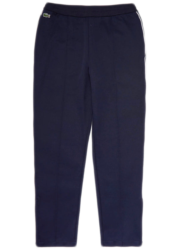 Lacoste - Run-resistant Pleated Tracksuit Pants (navy blue/white)