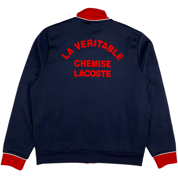 Lacoste - SH1555 Zip Up Sweatshirt (navy blue / red)
