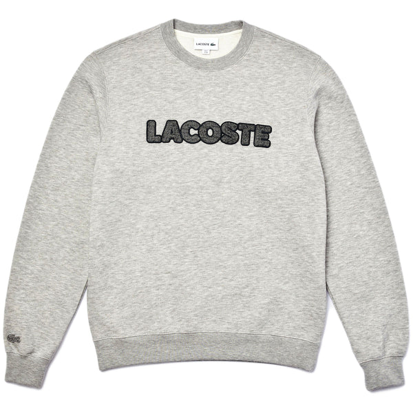 Lacoste - SH1967-51 Wool Blend Patch Sweatshirt (silver chine)