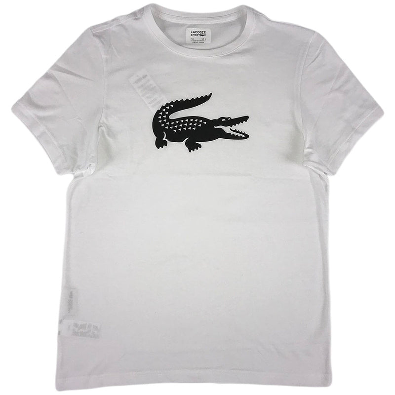 Lacoste - SS Jersey Tech w/Gator Graphic Logo (black/white)