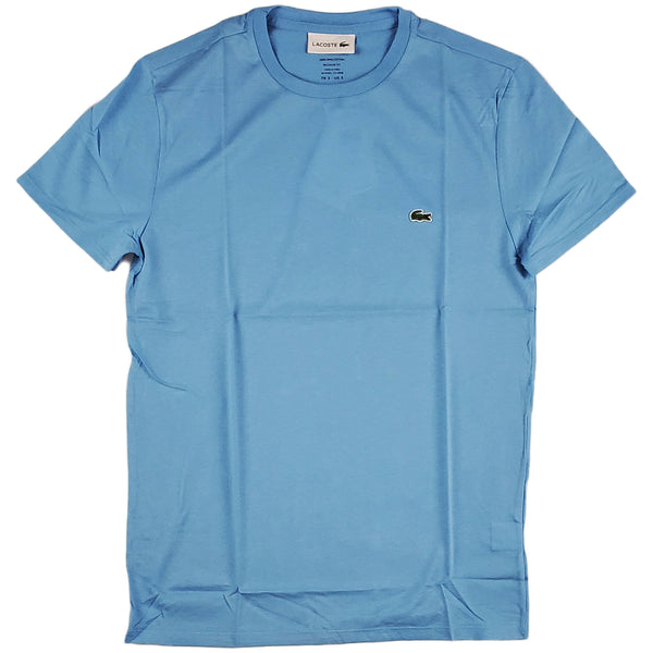 Lacoste - SS Pima Crewneck Tee (light blue)
