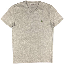 Lacoste - SS Pima V neck Tee (Heather)