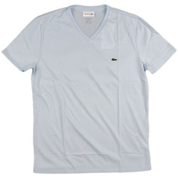 Lacoste - SS Pima V neck Tee (Light Blue)