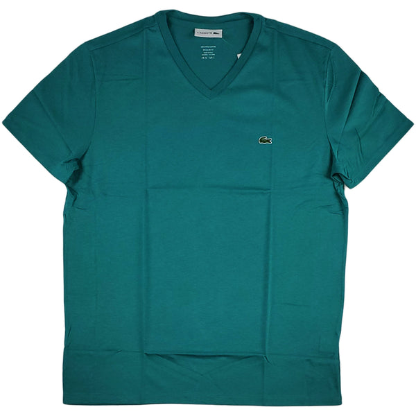 Lacoste - SS Pima V neck Tee (Teal Green)