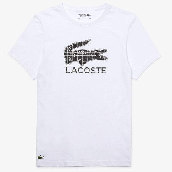Lacoste - Sport Crocodile Print Breathable Jersey T-shirt (white/black)