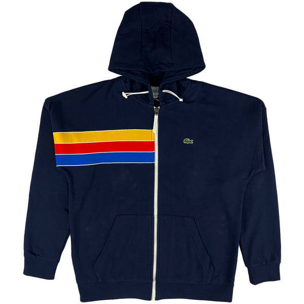 Lacoste - Sport Hooded Colorblock Fleece Zip Sweatshirt (navy)