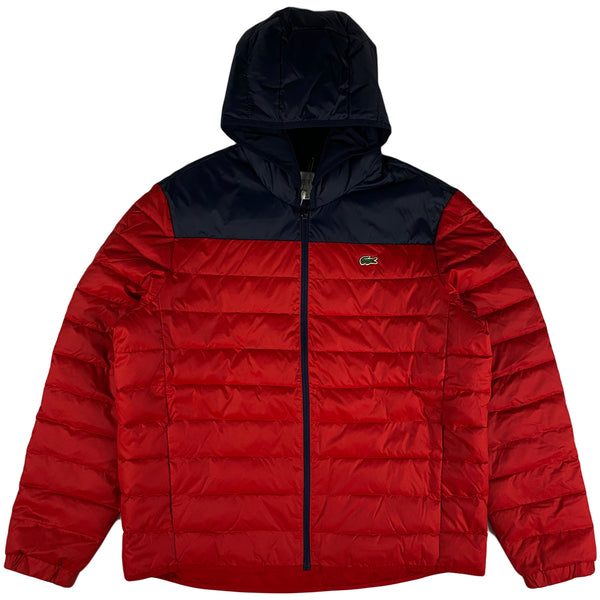 Lacoste - Sport Hooded Quilted Jacket (red/navy)