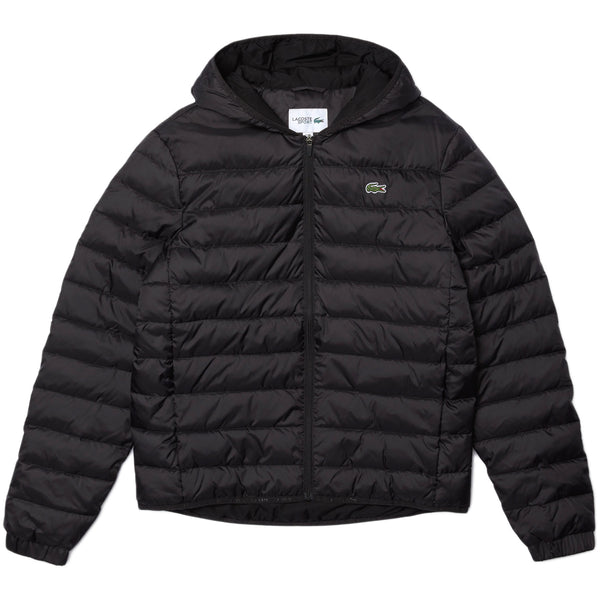 Lacoste - Sport Hooded Water-Resistant Quilted Jacket [bh1531] (black)