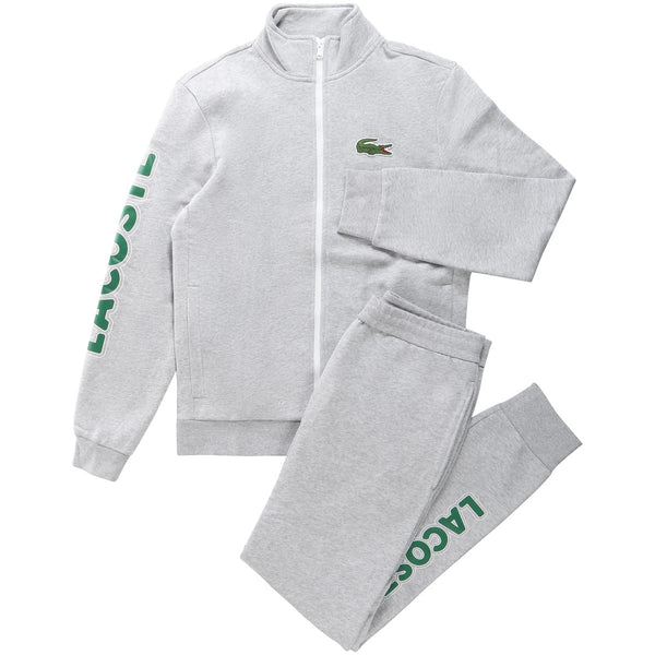 Lacoste - Sport Signature Fleece Tracksuit SET (silver/green/white)