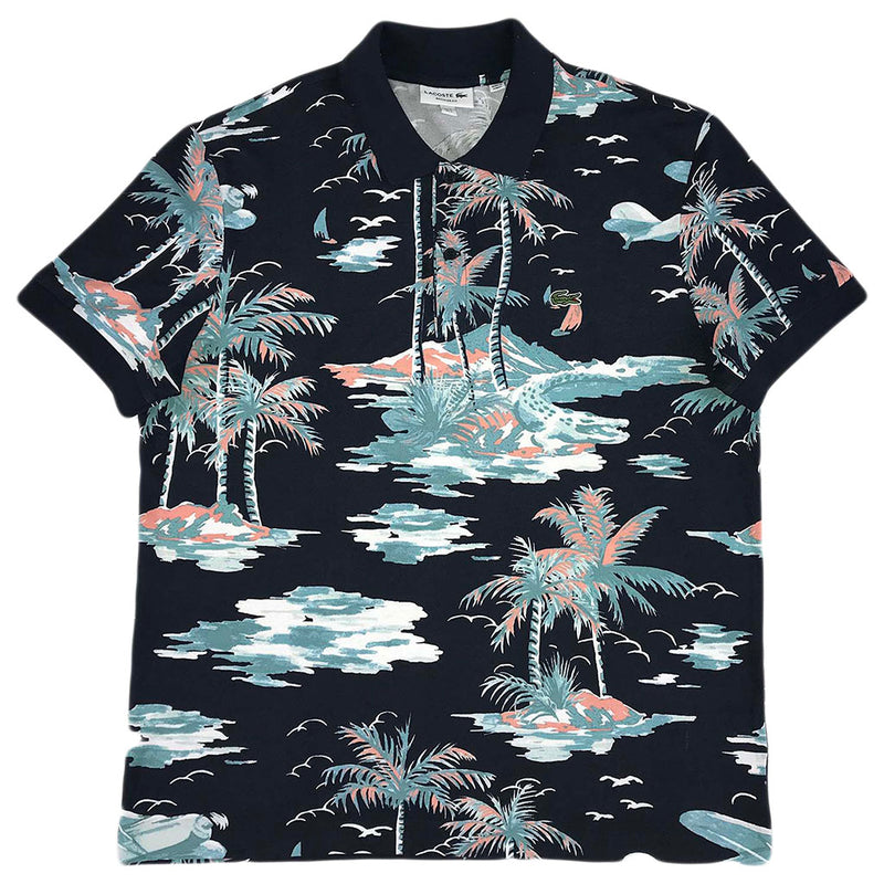 Lacoste SS All Over Printed Polo (marine blue/multicolor)