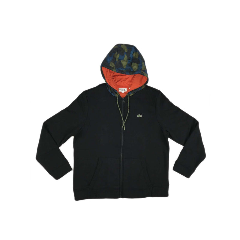Lacoste Sport Contrast Hood Fleece Zip (black)
